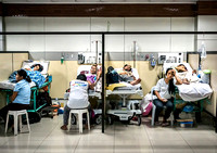 Overcrowded medical center in Davao, Philippines.