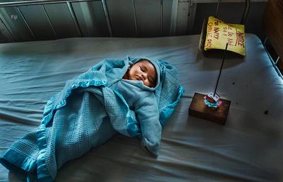 A baby at the Nausori Maternity Hospital in Suva, Fiji